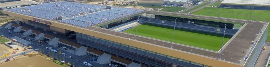 Stadion erőmű a Tissot Aréna tetején