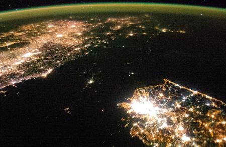 Észak-Korea éjszaka